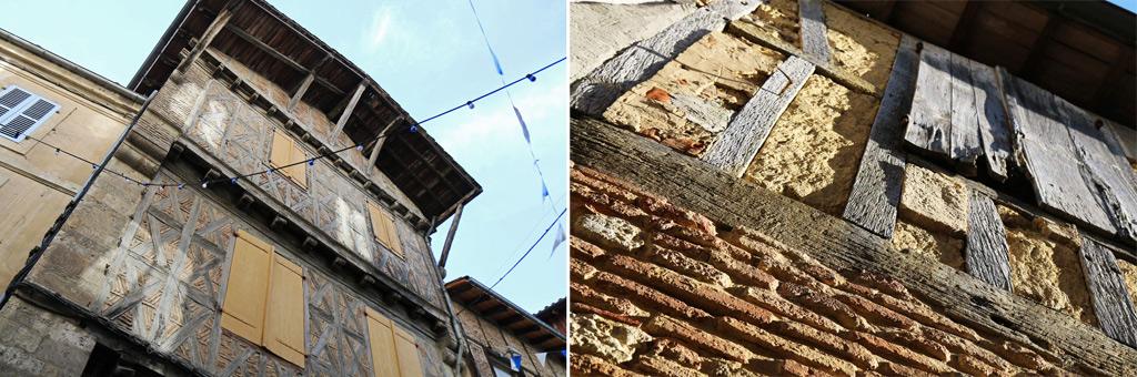 Eauze maisons a colombage