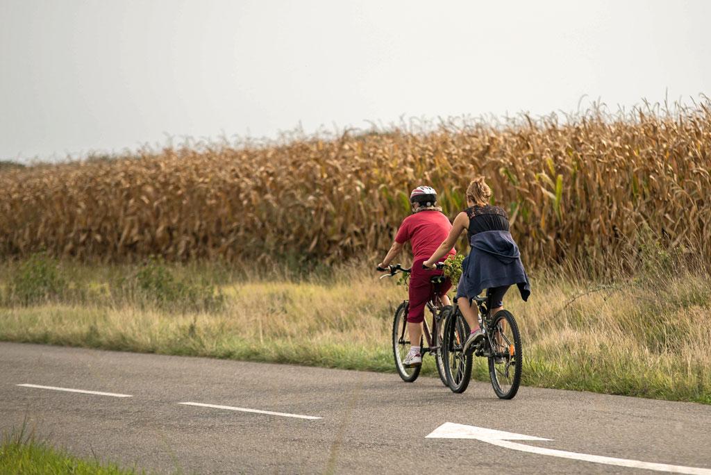 Les routes du Gers sont agréables en vélo