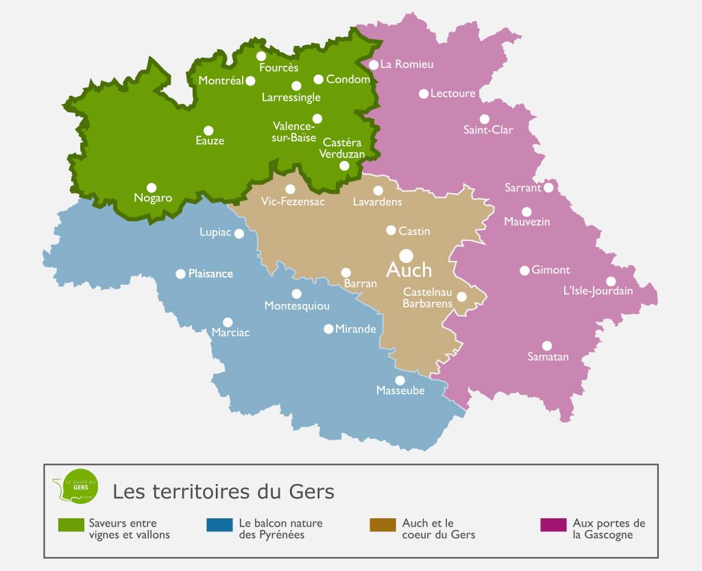 Carte du territoire : Saveurs entre vignes et vallons