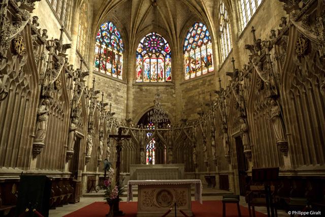 L'intérieur de la magnifique cathédrale de Condom