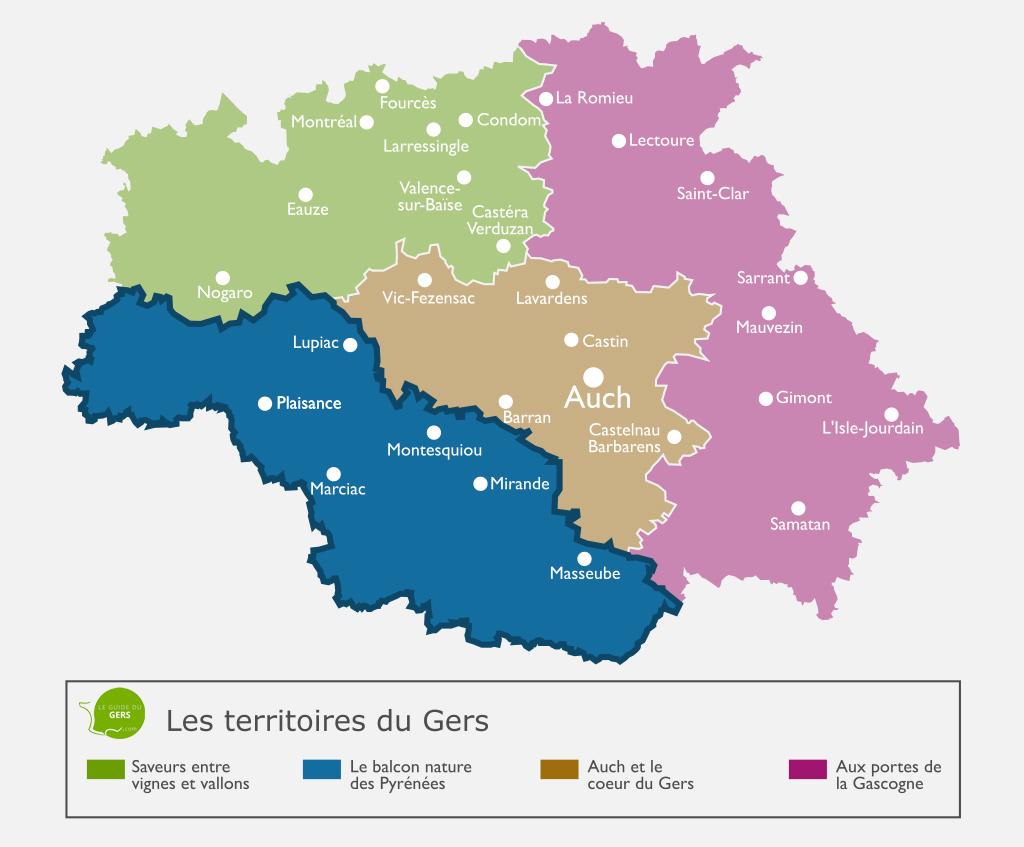 Carte du balcon nature des Pyrénées